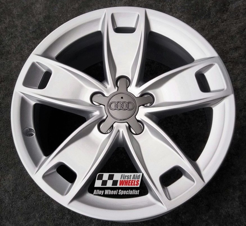 "R403 Silver AUDI A3 8P 17"" - 5 Spoke Genuine Alloy Wheels Set of 4 - EXCHANGE"