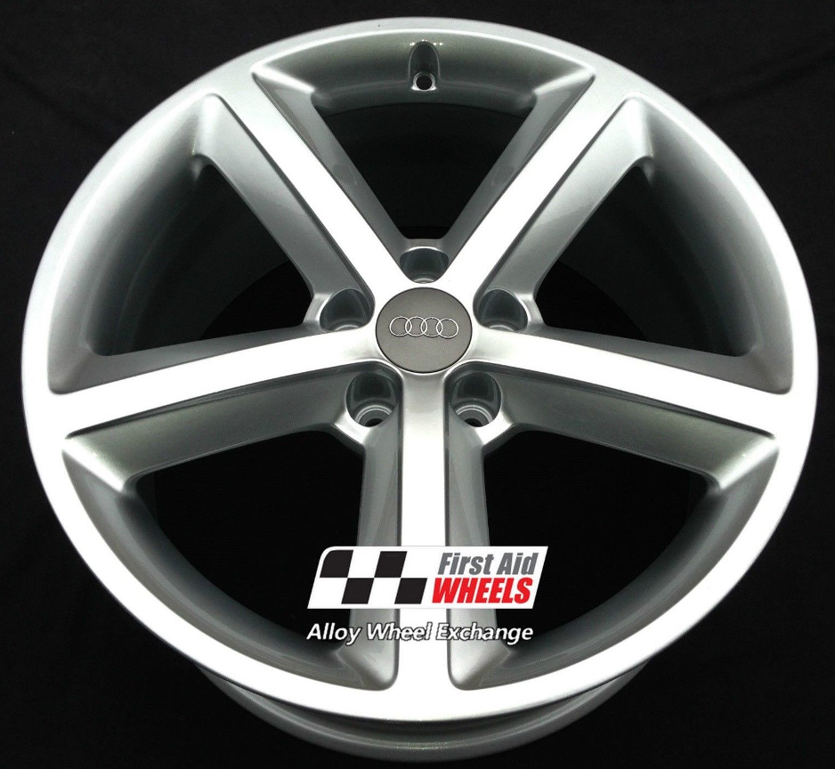 "R168 Silver AUDI A5 18"" - 5 Spoke Genuine Alloy Wheels set of 4 - EXCHANGE"