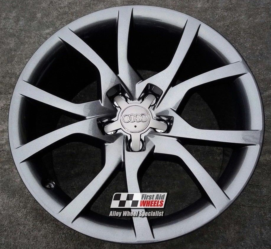"R177 Sparkle Anthracite AUDI A5 S-LINE 18"" - 10 V Spoke Genuine Alloy Wheels set of 4 - EXCHANGE"