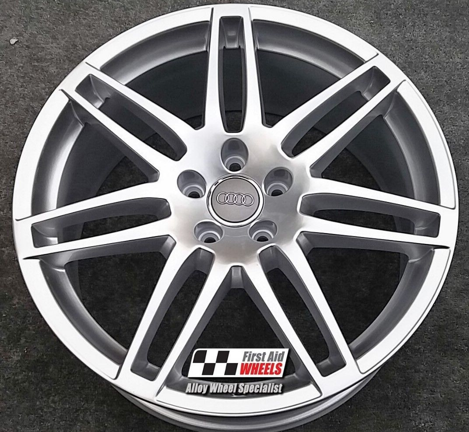 "R437 Silver AUDI Q5 20"" - 7 Double Spoke LE MANS Genuine Alloy Wheels Set of 4 - EXCHANGE"