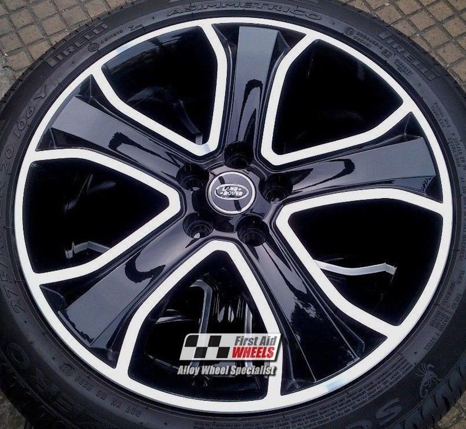 "R247 Diamond Cut Gloss Black RANGE ROVER SPORT 20"" - Genuine Alloy Wheels Set of 4 - EXCHANGE"