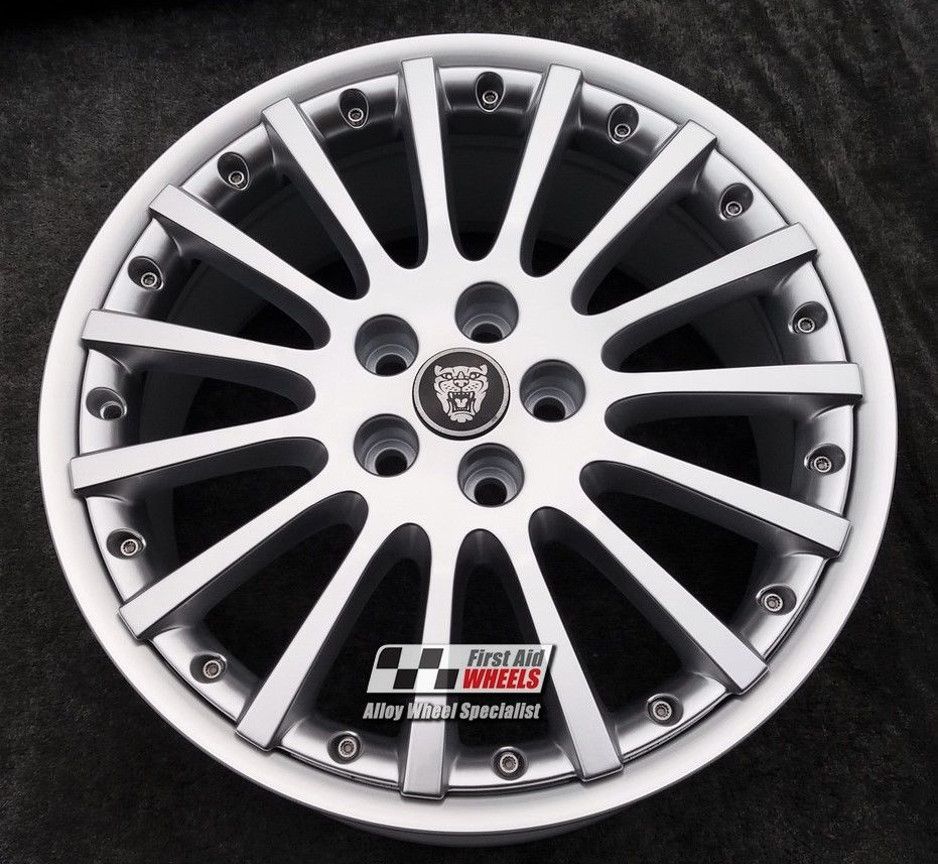 "R402 Silver JAGUAR S-TYPE 18"" - BBS INDIANAPOLIS Genuine Alloy Wheels Set of 4 - EXCHANGE"
