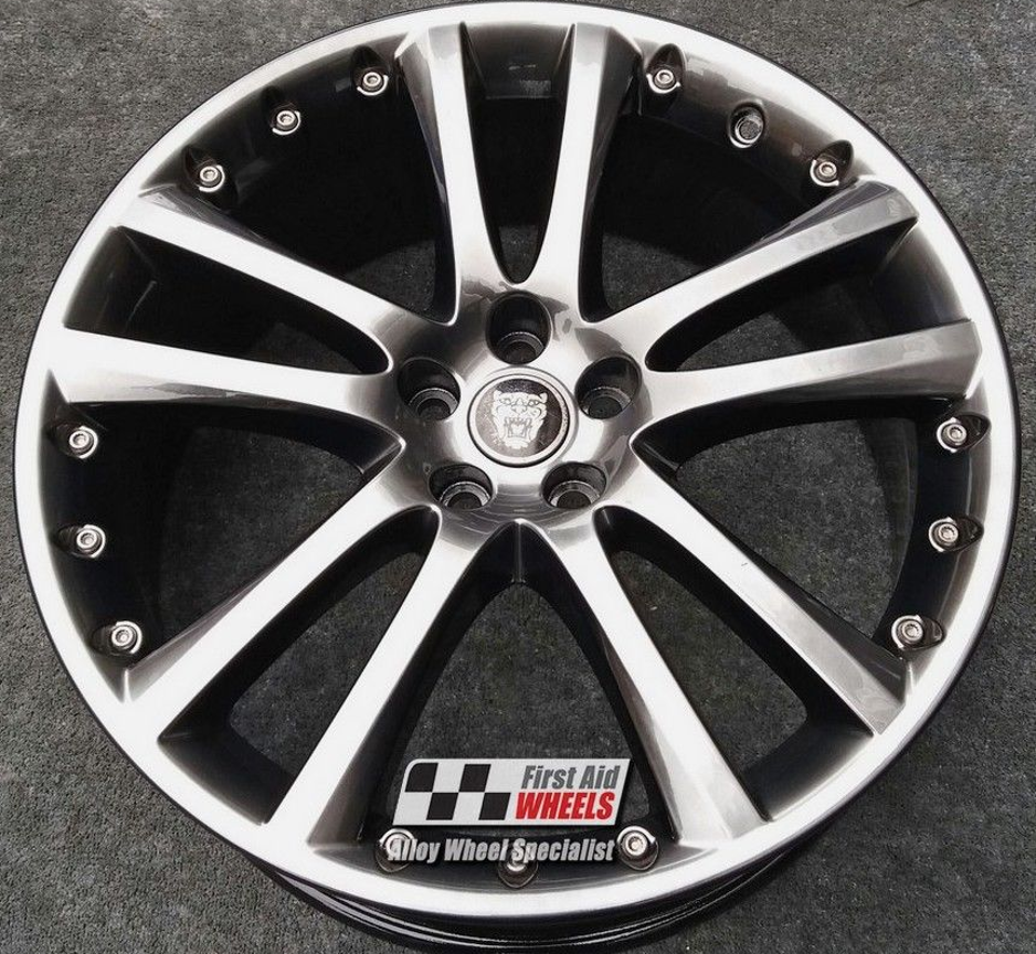 "R414 Smoked Chrome JAGUAR XFR XK 20"" - SENTA Genuine Alloy Wheels Set of 4 - EXCHANGE"