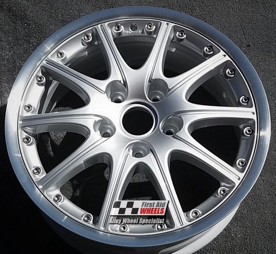 "R144 Silver PORSCHE 911 996 18"" - Split Rim Genuine Alloy Wheels Set of 4 - EXCHANGE"