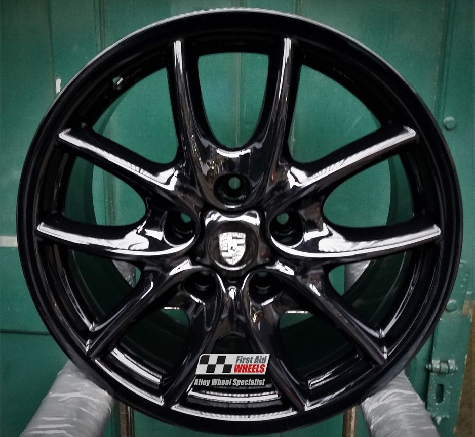 "R134 Gloss Black PORSCHE CAYENNE TURBO 19"" - Genuine Alloy Wheels Genuine Set of 4 - EXCHANGE"