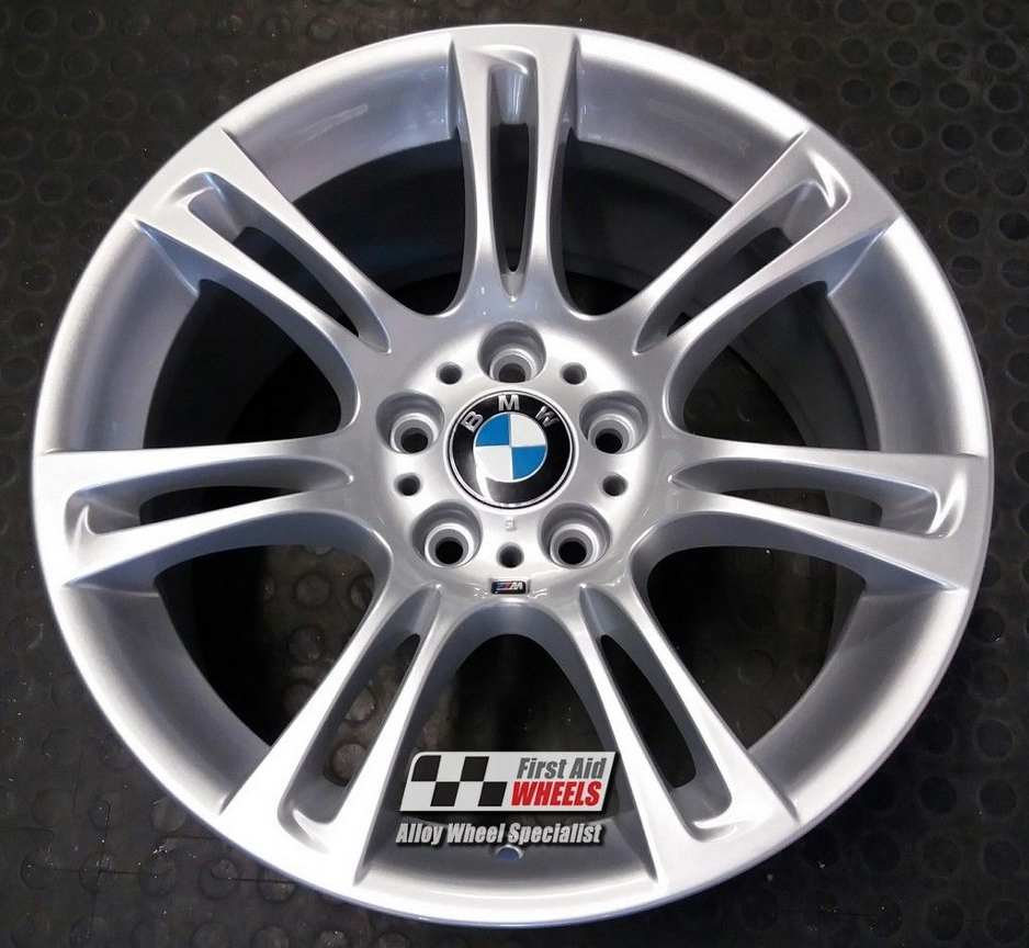 "R117 Silver BMW 5 SERIES F10 F11 18"" - M-SPORT 350 Genuine Alloy Wheels Set of 4 - Exchange"