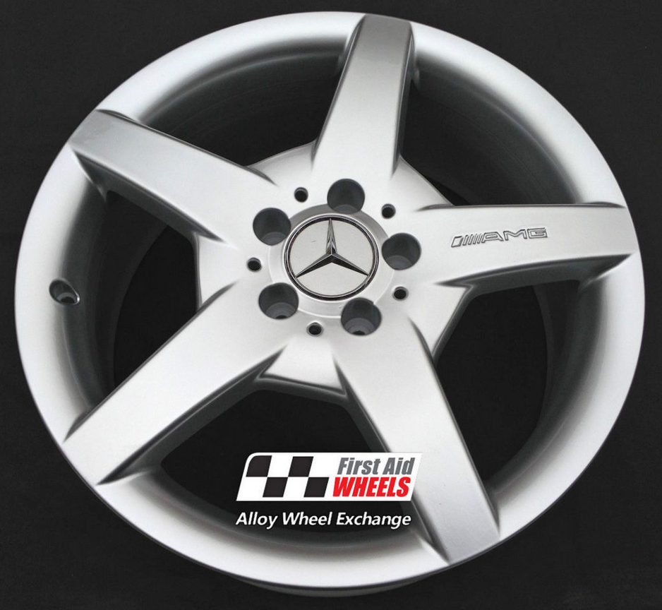"R154 Silver MERCEDES C CLASS CLC CLK SLK 18"" - AMG III Genuine Alloy Wheels Set of 4 - EXCHANGE"