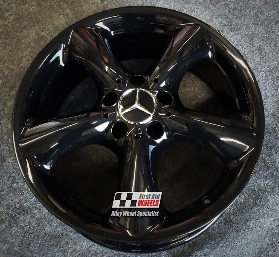 "R188 Gloss Black MERCEDES C-CLASS CLK 17"" - ADHARAZ Genuine Alloy Wheels Set of 4 - EXCHANGE"