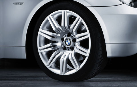 "BMW 5 Series E60 E61 19"" Style 172M M Double Spoke Spider Genuine Front Alloy Wheel"