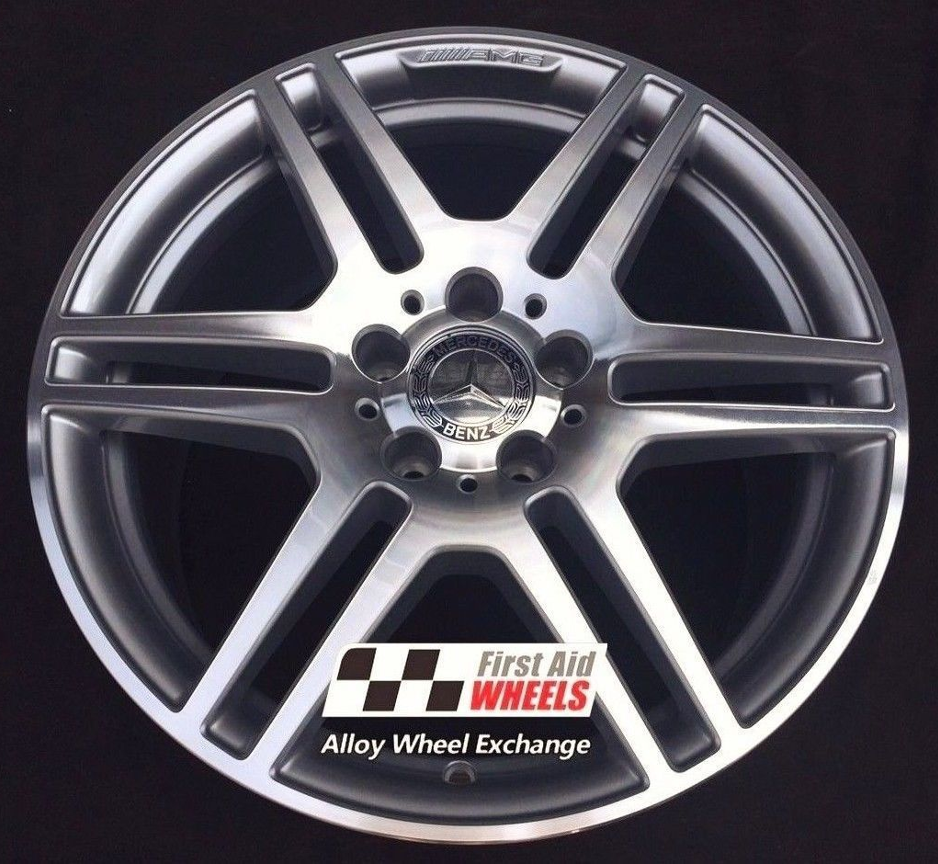 "R353 Diamond Cut Silver MERCEDES E CLASS CONVERTIBLE/COUPE 18"" - AMG IV Genuine Alloy Wheels Set of 4 - EXCHANGE"