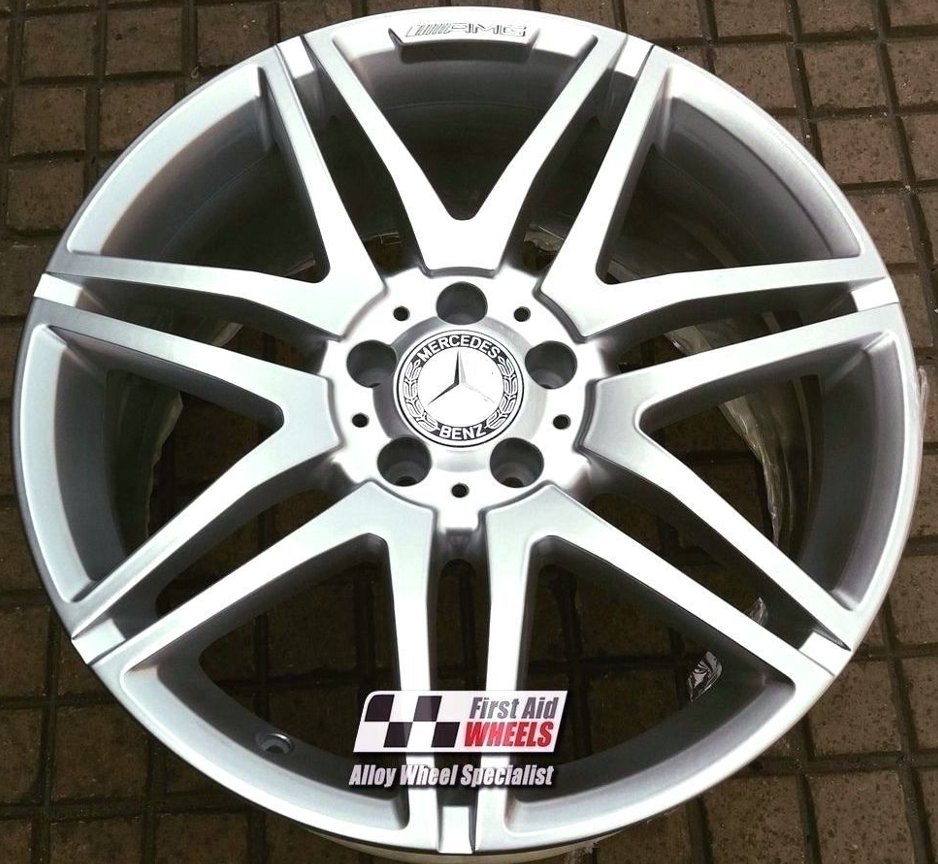 "R287 Silver MERCEDES E CLASS CONVERTIBLE/COUPE 19"" - AMG Genuine Alloy Wheels Set of 4 - EXCHANGE"