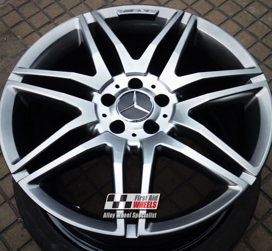 "R287 Shadow Chrome MERCEDES E CLASS CONVERTIBLE/COUPE 19"" - AMG Genuine Alloy Wheels Set of 4 - EXCHANGE"