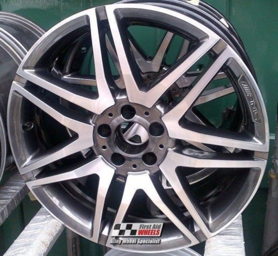"R287 Diamond Cut Anthracite MERCEDES E CLASS CONVERTIBLE/COUPE 19"" - AMG Genuine Alloy Wheels Set of 4 - EXCHANGE"