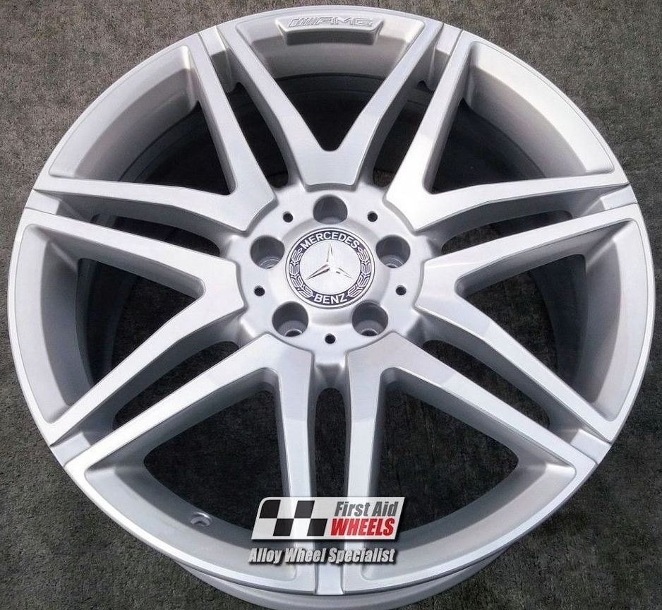 "R287 Diamond Cut Silver MERCEDES E CLASS CONVERTIBLE/COUPE 19"" - AMG Genuine Alloy Wheels Set of 4 - EXCHANGE"