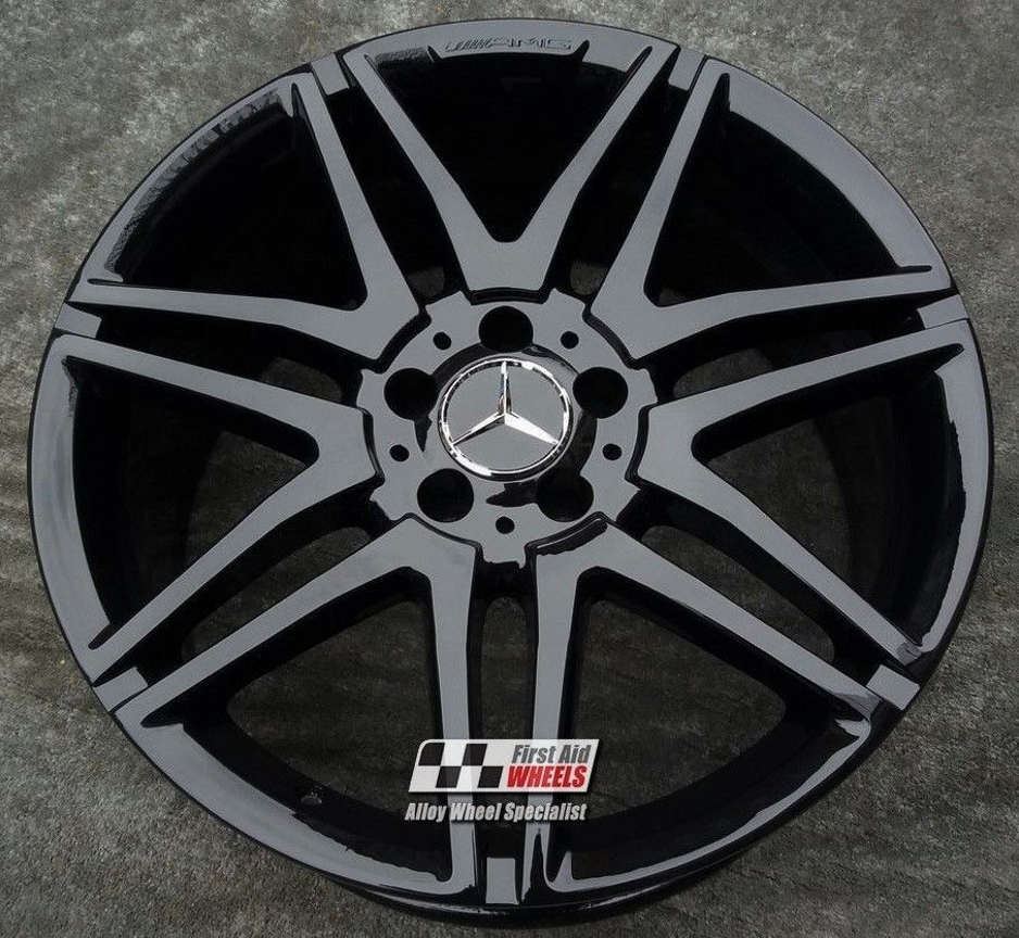 "R357 Gloss Black MERCEDES E CLASS ESTATE/SALOON 19"" - AMG Genuine Alloy Wheels Set of 4 - EXCHANGE"
