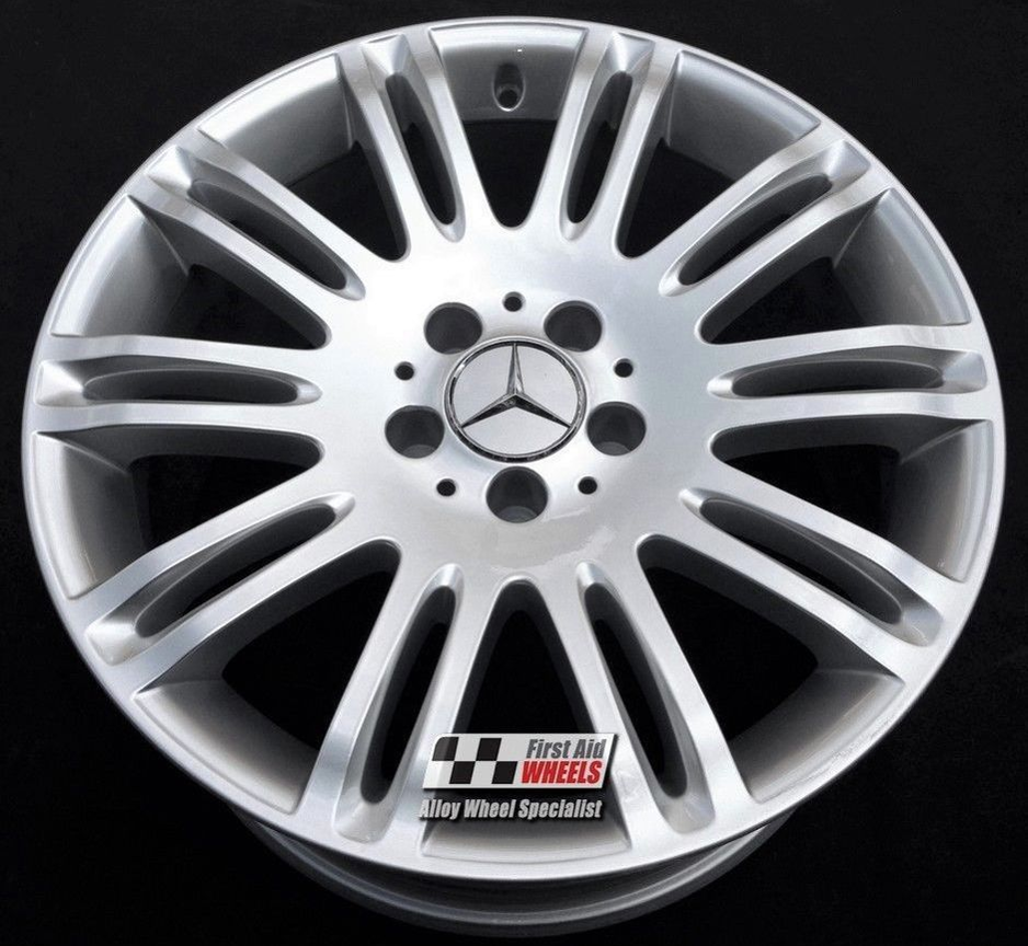 "R189 Silver MERCEDES E-CLASS W 211 18"" - Genuine Alloy Wheels Set of 4 - EXCHANGE"