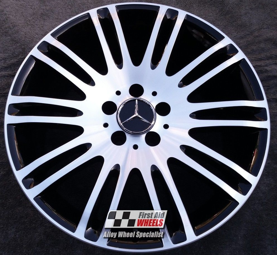 "R189 Diamond Cut Gloss Black MERCEDES E-CLASS W 211 18"" - Genuine Alloy Wheels Set of 4 - EXCHANGE"