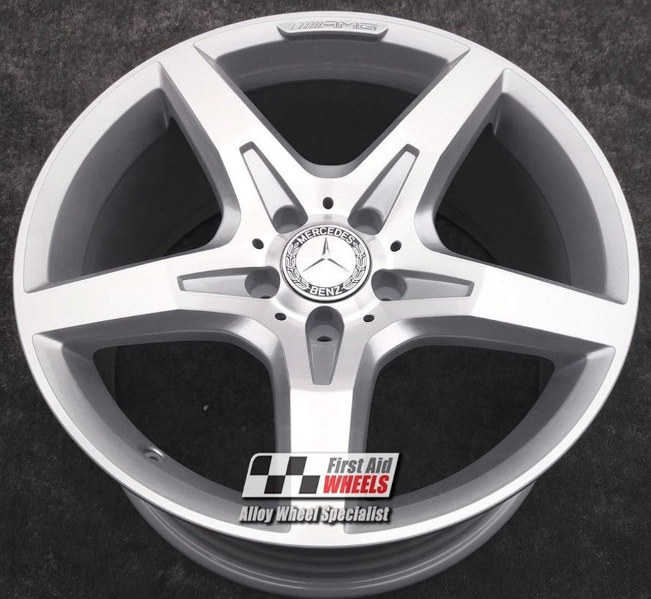 "R337 Diamond Cut Silver MERCEDES SLK 18"" -  AMG 5 Spoke Genuine Alloy Wheels Set of 4 - EXCHANGE"
