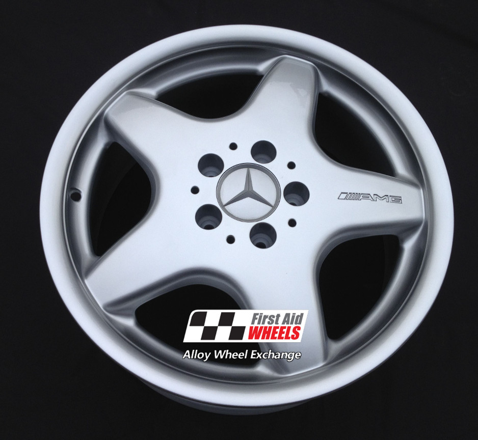 "R122 Silver MERCEDES SLK R170 17"" - AMG I Genuine Alloy Wheels Set of 4 - EXCHANGE"