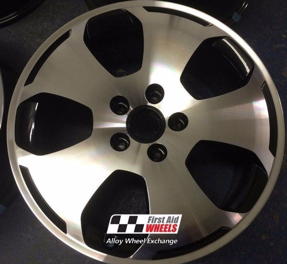 "R156 Diamond Cut AUDI A3 17"" - 5 Hole Genuine Alloy Wheels Set of 4 - EXCHANGE"