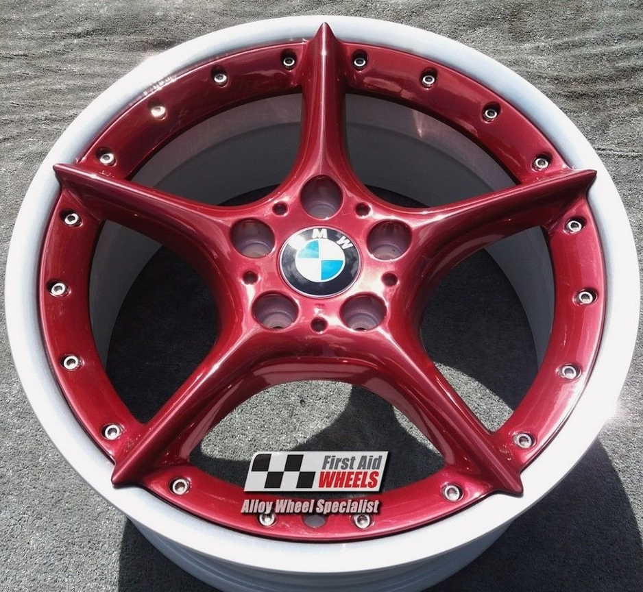 "R107 Candy Red BMW Z4 18"" - Split Rim Style 108 Genuine Alloy Wheels Set of 4 - EXCHANGE"