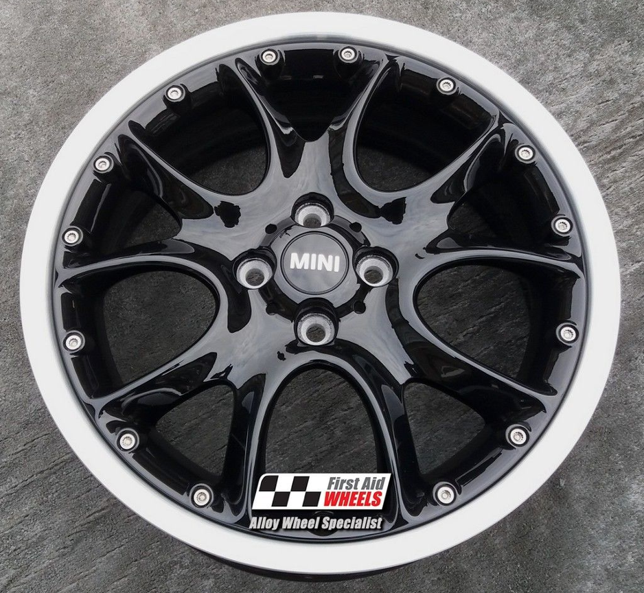 "R341 Gloss Black MINI COOPER S 17"" - R98 WEB Spoke Split Rim Genuine Alloy Wheels Set of 4 - EXCHANGE"