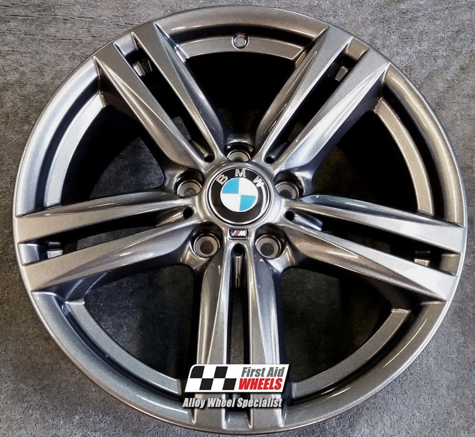 "R400 Sparkle Anthracite BMW 1 F20 F21 2 F22 F23 18"" - Style 386M Genuine Alloy Wheels Set of 4 - EXCHANGE"