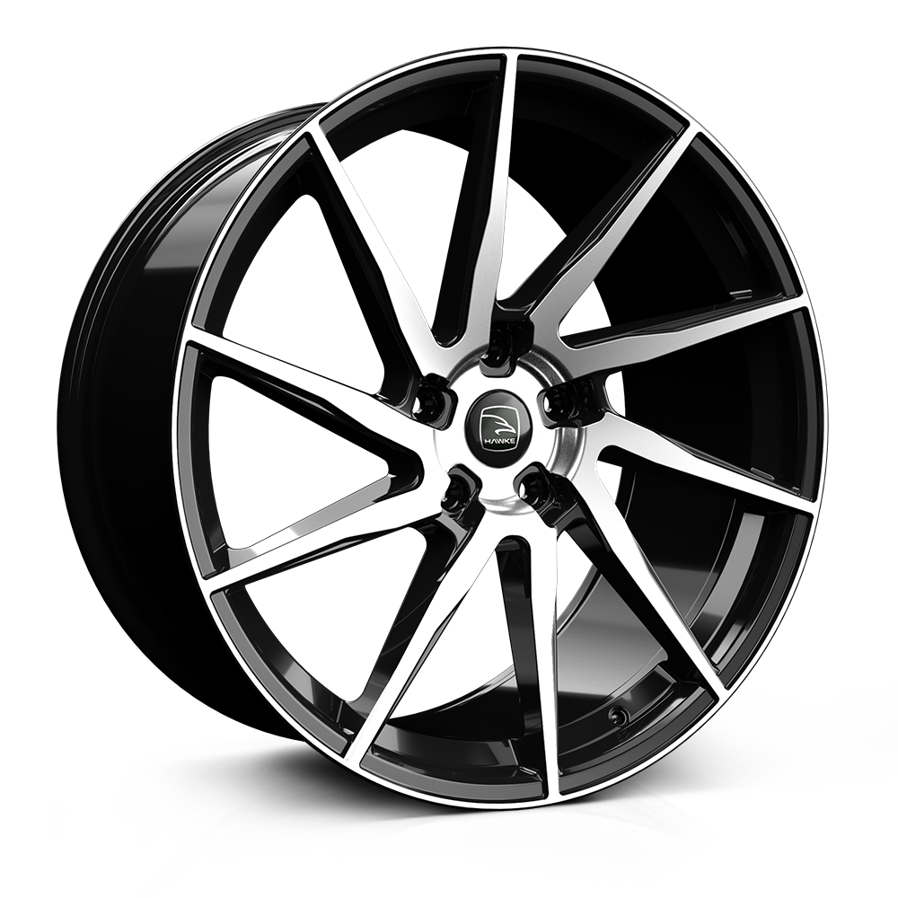 Hawke Arion 23 inch Black Polished Wheels (set of 4, fits Range Rover Sport, Vogue and Discovery models)