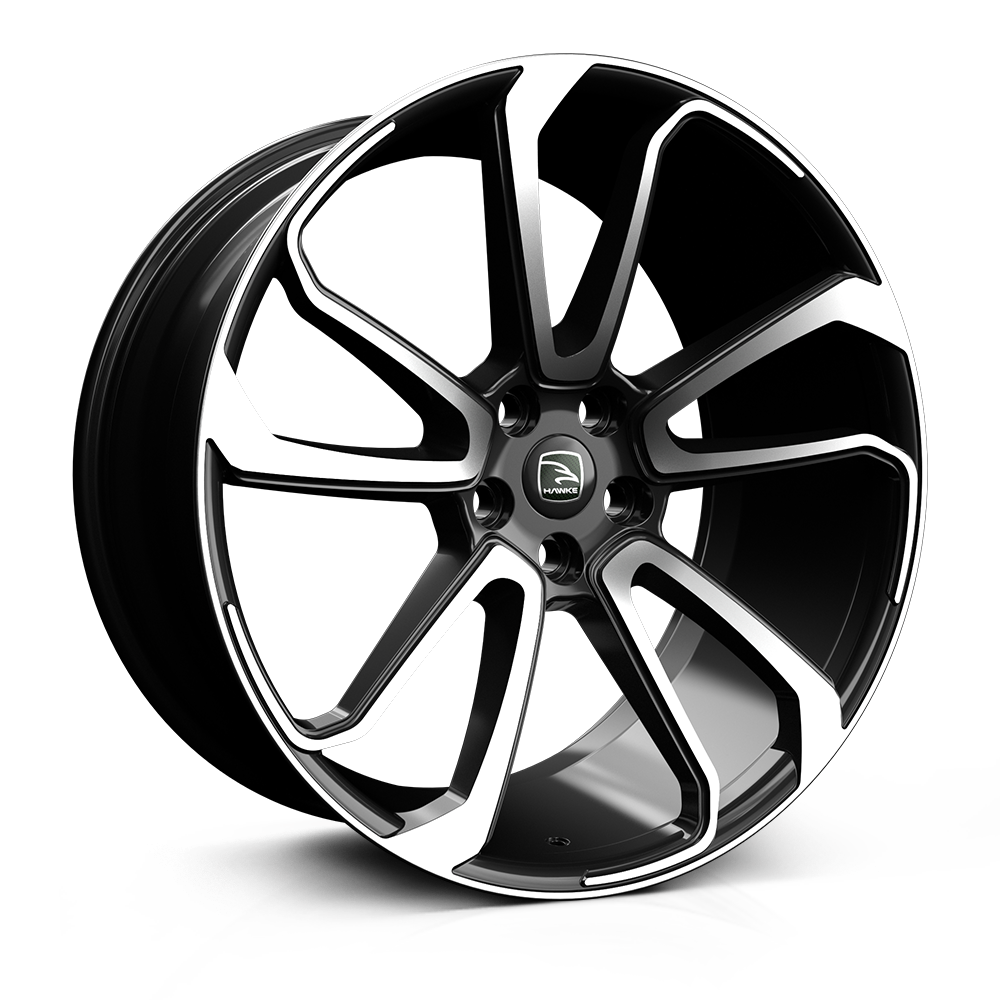 Hawke Falkon 22 inch Wheels (set of 4, fits Range Rover Sport, Vogue and Discovery models, VW Transporter T5 T6)