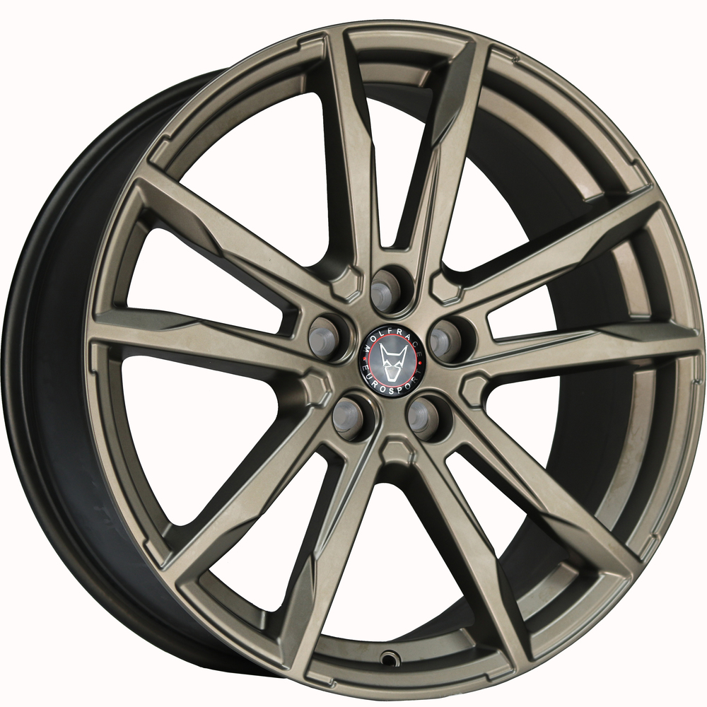 "Wolfrace Eurosport Dortmund 4x19"" Bronze Alloy Wheels for Tesla Model 3"