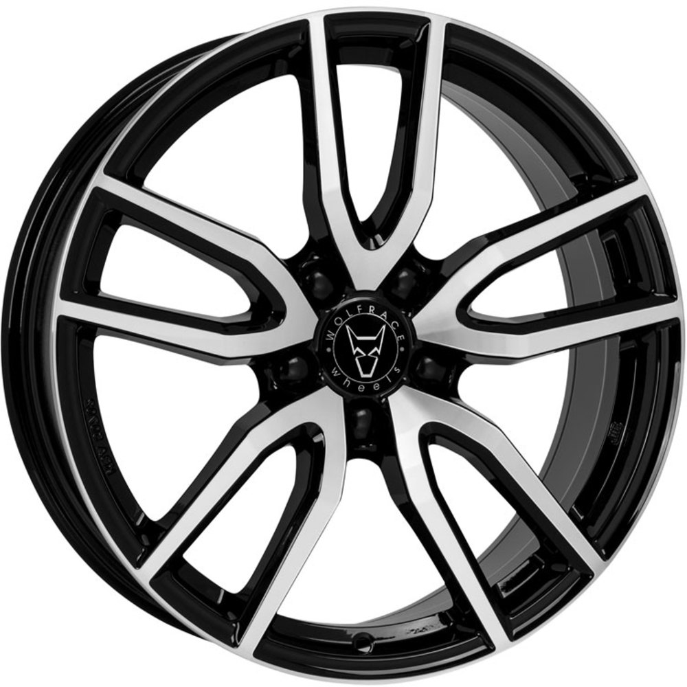 "Wolfrace Eurosport Torino 4x19"" Gloss Black & Diamond Cut Alloy Wheels for Tesla Model 3"