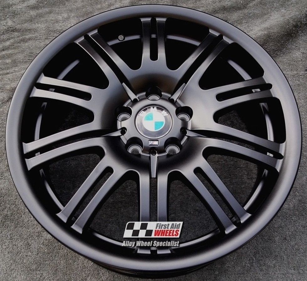 "R109BS EXCHANGE for Ours BMW E46 M3 4X 19"" GENUINE 67M SATIN BLACK ALLOY WHEELS"