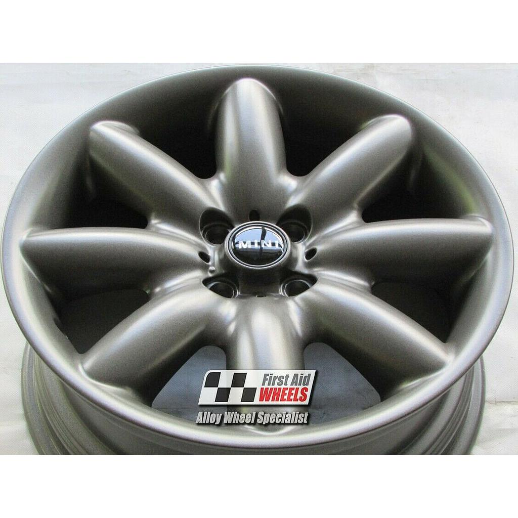 "R118AS Exchange MINI COOPER S 4X 17"" GENUINE R85 SATIN ANTHRACITE ALLOY WHEELS"