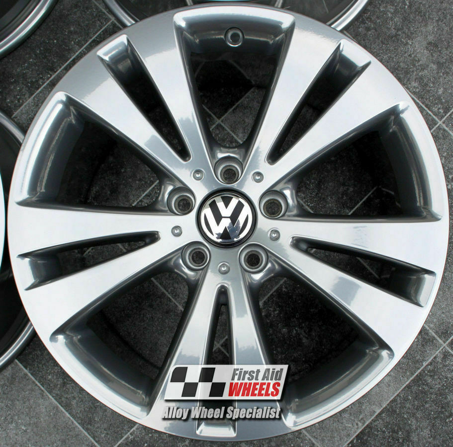 "R148C EXCHANGE for Ours VW EOS PASSAT 4X 18"" CHICAGO CHROME LOOK ALLOY WHEELS"