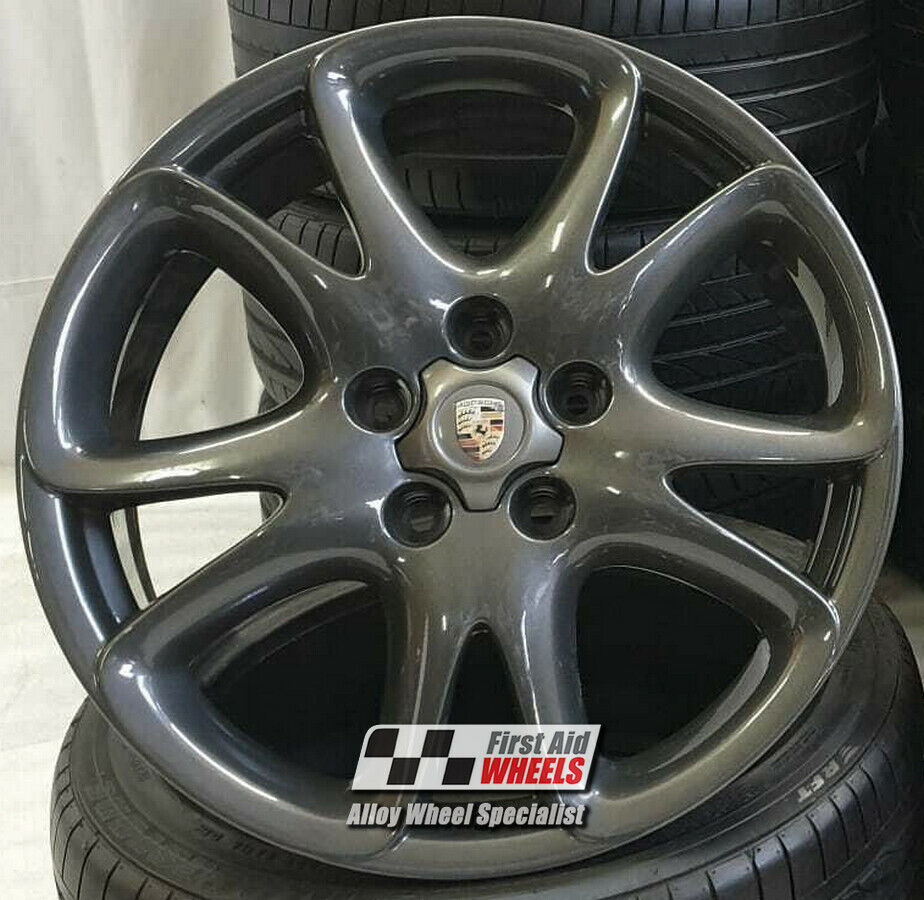 "R163A Exchange PORSCHE CAYENNE 4x 20"" GENUINE SPORT ANTHRACITE ALLOY WHEELS"