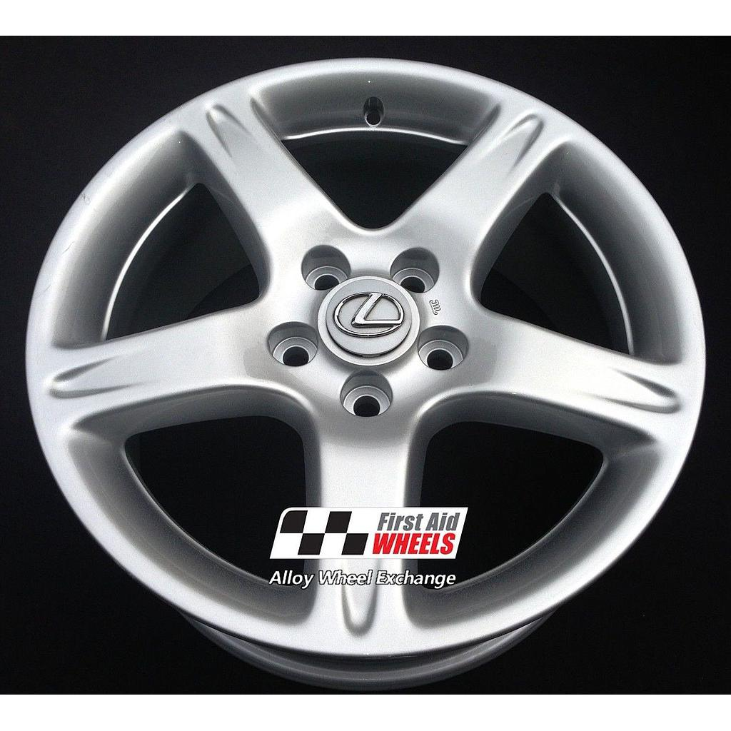 "R199S EXCHANGE for Ours LEXUS GS 300 4X 17"" GENUINE 5 SPOKE SILVER ALLOY WHEELS"