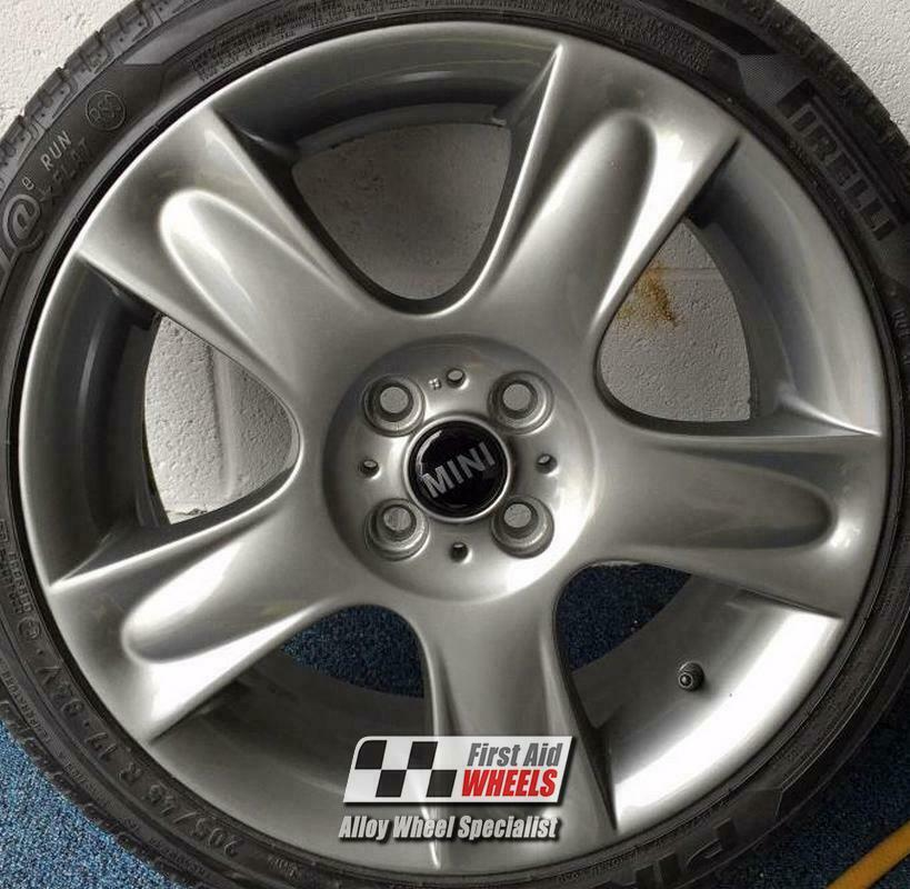 "R211FG Exchange MINI COOPER S 4X 17"" R91 5 STAR BULLET FERRIC GREY ALLOY WHEELS"