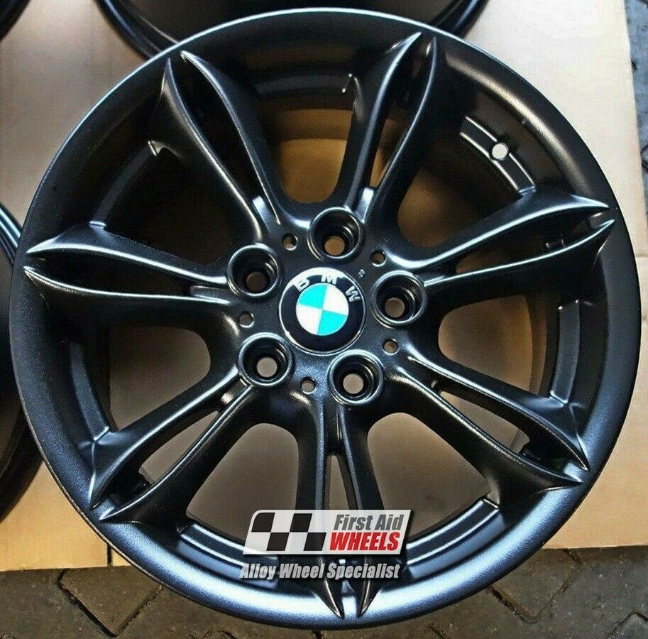 "R224BM Exchange BMW Z4 E85 E86 4X 17"" GENUINE STYLE 103 MATT BLACK ALLOY WHEELS"