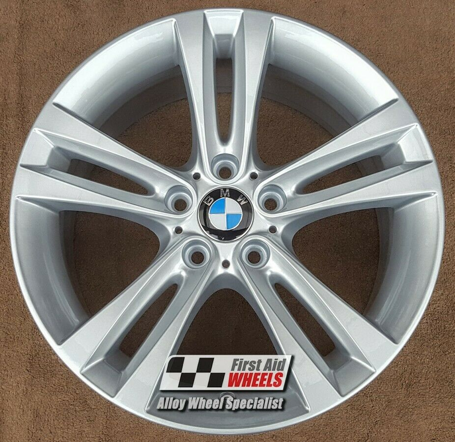 "R284S Exchange BMW 3 SERIES F30 4x 18"" GENUINE STYLE 397 8J SILVER ALLOY WHEELS"