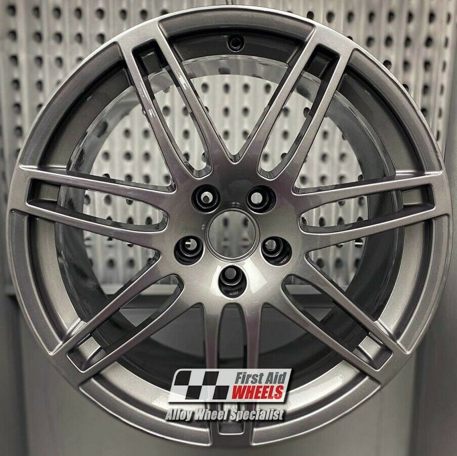 "R328G EXCHANGE for Ours AUDI A6 4X 19"" GENUINE LE MANS GLOSS GREY ALLOY WHEELS"