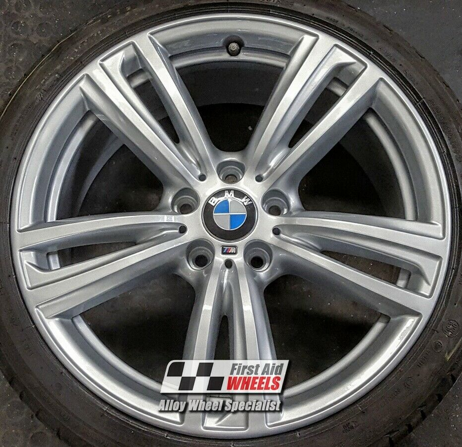 "R345S Exchange BMW 3 / 4 SERIES 4X 19"" GENUINE STYLE 442M SILVER ALLOY WHEELS"