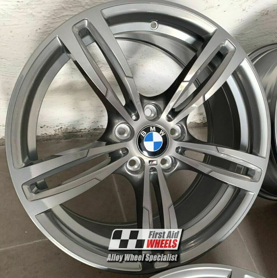 "R348C Exchange BMW M2 M3 M4 4x 19"" GENUINE STYLE 437M CHROME LOOK ALLOY WHEELS"