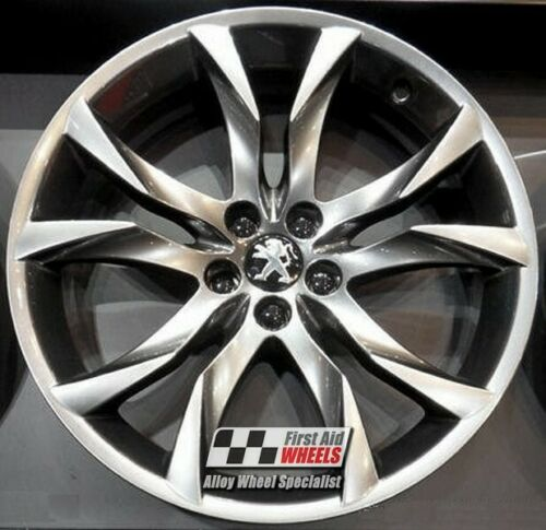 "R393SC Exchange PEUGEOT RCZ 4x 19"" GENUINE SORTILEGE SHADOW CHROME ALLOY WHEELS"