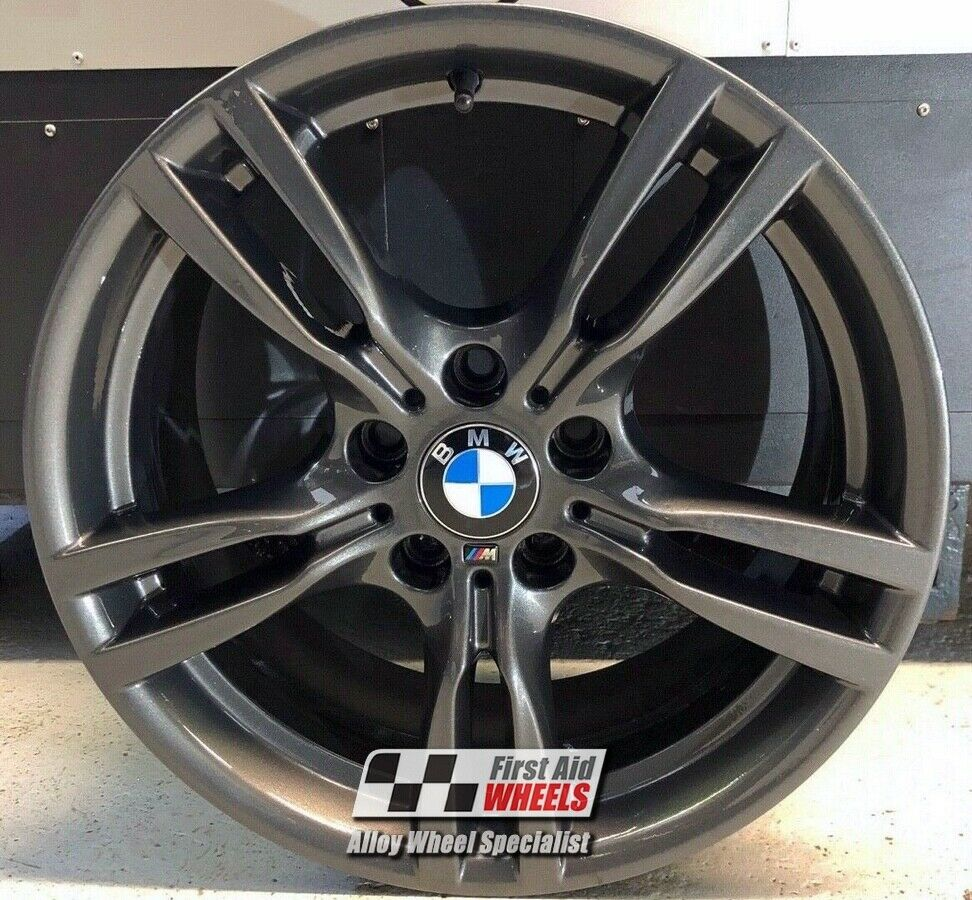 "R421CG Exchange BMW 3 / 4 SERIES 4x 18"" GENUINE STYLE 400M GRAPHITE ALLOY WHEELS"