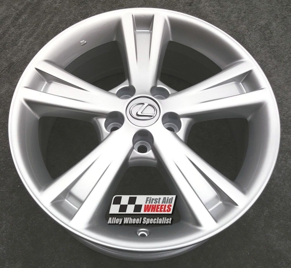 "R423S EXCHANGE for Ours LEXUS RX 400H 4X 18"" GENUINE 5 SPOKE SILVER ALLOY WHEELS"
