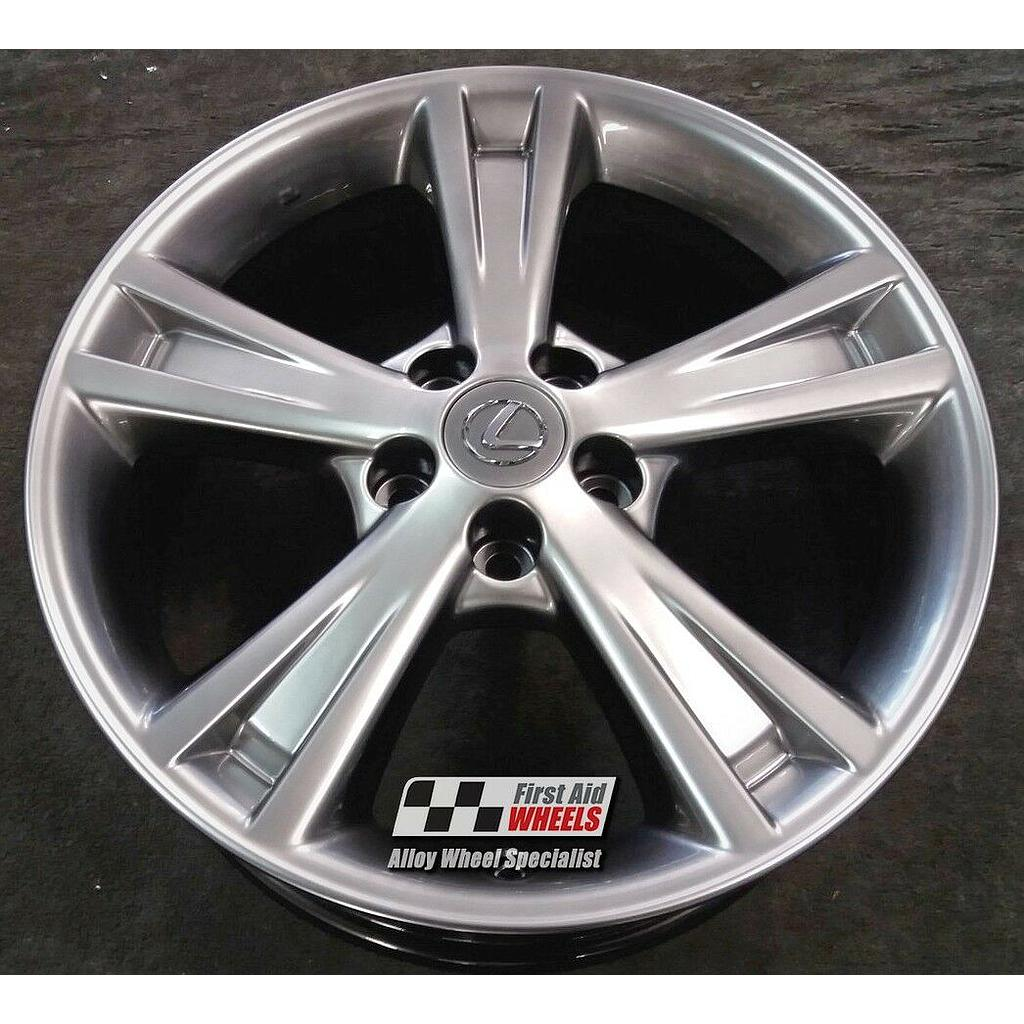 "R423SC Exchange LEXUS RX 400H 4X 18"" GENUINE 5 SPOKE SHADOW CHROME ALLOY WHEELS"