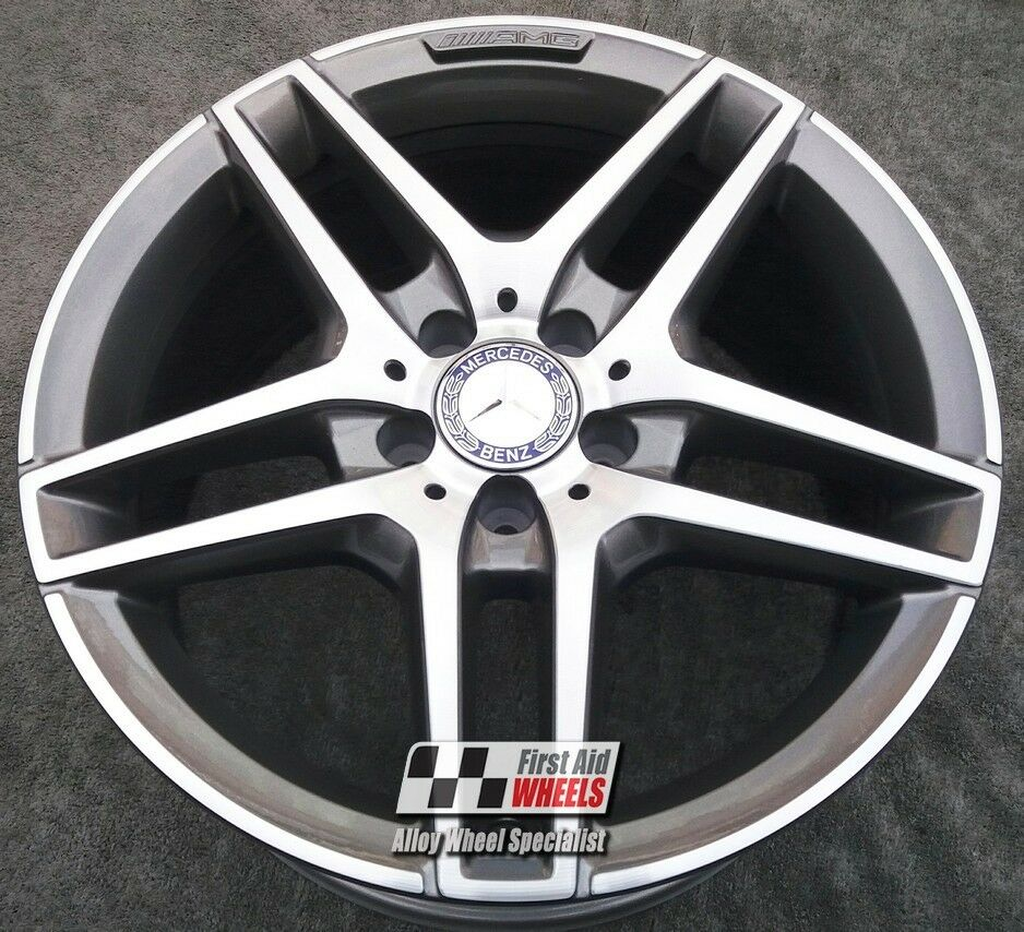 "R425DCG Exchange MERCEDES E CLASS A207 4X 18"" AMG GREY DIAMOND CUT ALLOY WHEELS"