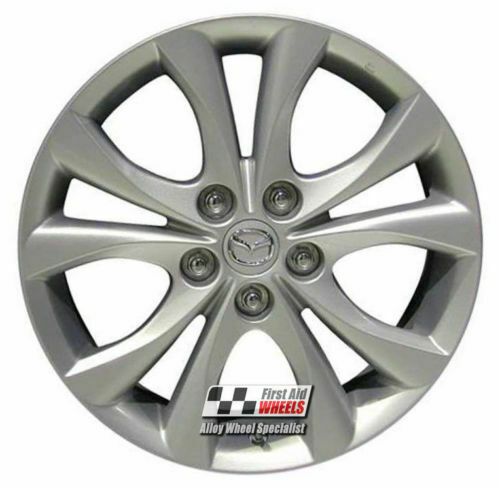 "R455S EXCHANGE for Ours MAZDA 3 4X 17"" GENUINE 5 V SPOKE SILVER ALLOY WHEELS"