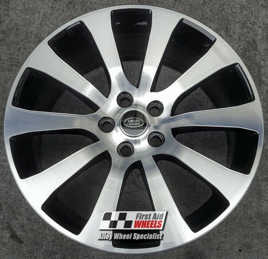 "R496DCB Exchange RANGE ROVER SPORT 4X 20"" GLOSS BLACK DIAMOND CUT ALLOY WHEELS"