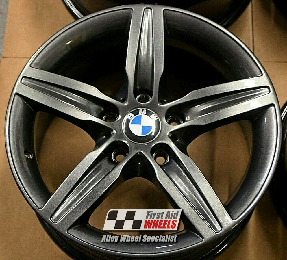 "R498OG Exchange BMW 1 2 SERIES 4x 17"" GENUINE STYLE 379 ORBIT GREY ALLOY WHEELS"